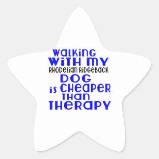 Walking With My Rhodesian Ridgeback Dog Designs Star Sticker