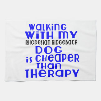Walking With My Rhodesian Ridgeback Dog Designs Tea Towel