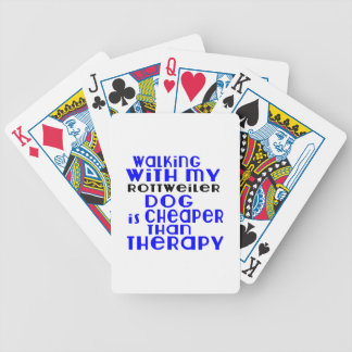 Walking With My Rottweiler Dog Designs Poker Deck