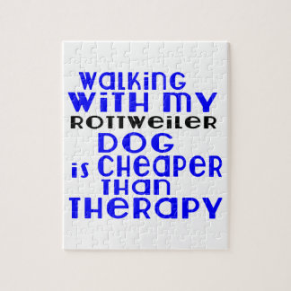 Walking With My Rottweiler Dog Designs Puzzle