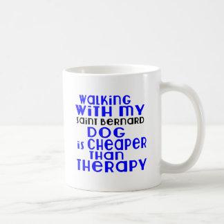 Walking With My Saint Bernard Dog Designs Coffee Mug