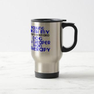 Walking With My Saint Bernard Dog Designs Travel Mug