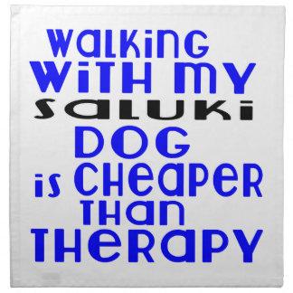 Walking With My Saluki Dog Designs Napkin