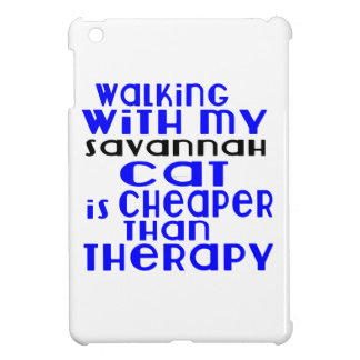 Walking With My Savannah Cat Designs iPad Mini Cases