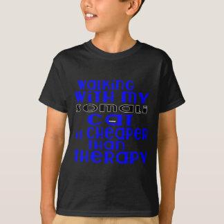 Walking With My Somali Cat Designs T-Shirt