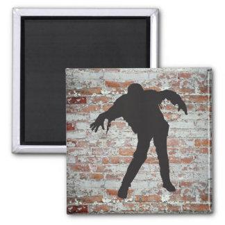 Walking Zombie Silhouette Magnet