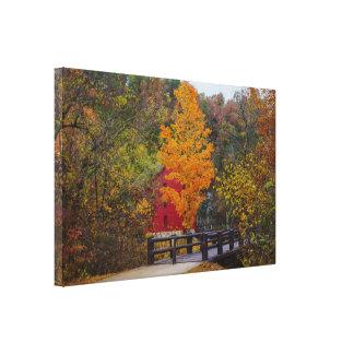 Walkway Bridge To Alley Mill Canvas Print