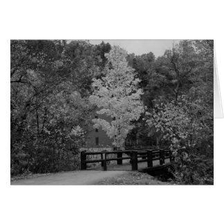 Walkway Bridge to Alley Mill Grayscale Card