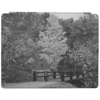 Walkway Bridge to Alley Mill Grayscale iPad Cover