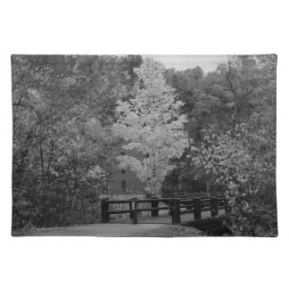 Walkway Bridge to Alley Mill Grayscale Placemat