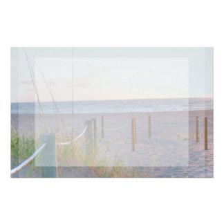 walkway florida beach dune sunrise custom stationery