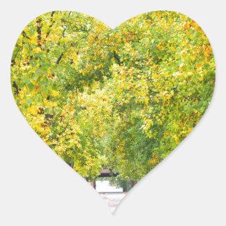 Walkway full of trees heart sticker