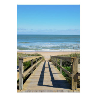 Walkway to the beach poster