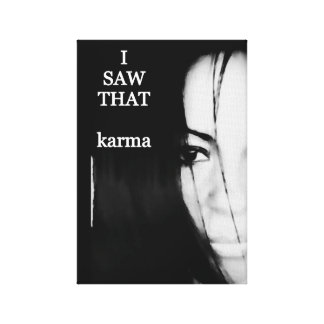 wall art canvas karma i saw that