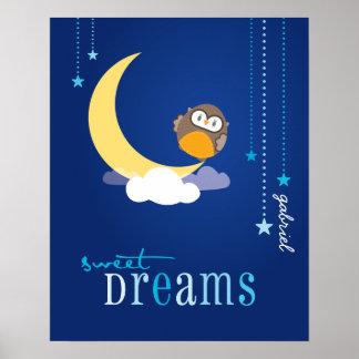 WALL ART :: owl - sweet dreams 2 Poster