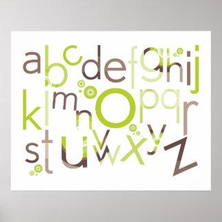 WALL ART :: TYPOGRAPHY - trendy alphabet 1