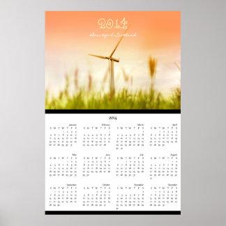 Wall calendar 2014, beautiful Scotland, windmill Poster