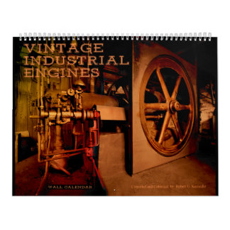 Wall Calendar Vintage Industrial Engines