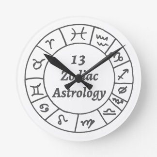 Wall Clock 13 Zodiac Astrology