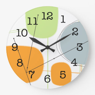 Wall Clock - Abstract 1950s Inspired Atomic Art