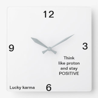 wall clock acrilyc by Lucky karma