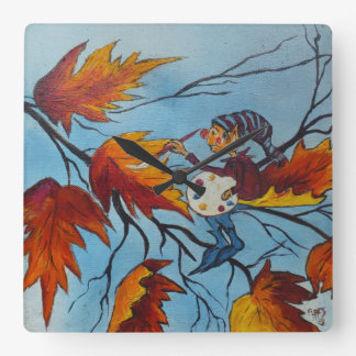 Wall Clock Ann Hayes Painting Pixie Painting