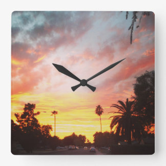 Wall Clock Arizona Sunset