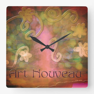 wall clock ART NOUVEAU