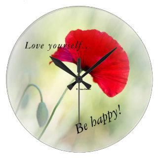 """Wall clock """"Be happy!"""""""