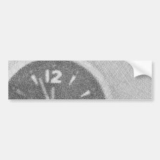 Wall Clock Canvas Sketch on Bumper Sticker
