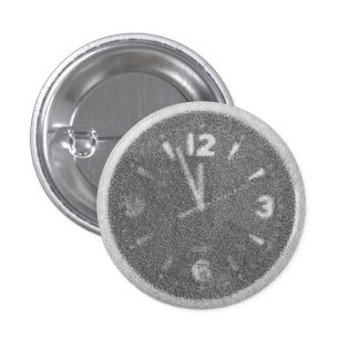 Wall Clock Canvas Sketch on Round Button
