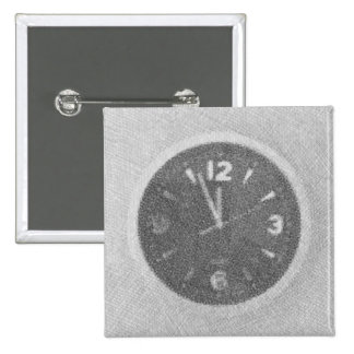 Wall Clock Canvas Sketch on Square Button