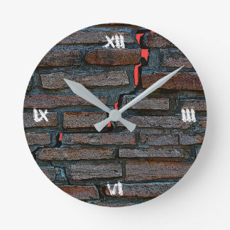 Wall Clock; Cracked Wall Design Round Clock