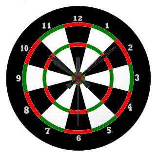 Wall Clock: Dartboard Design Large Clock