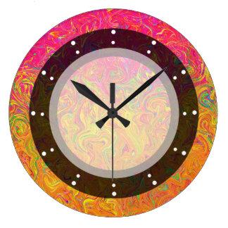 Wall Clock Fluid Colors