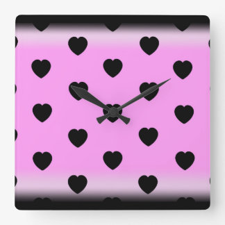 wall clock for girls room in pink