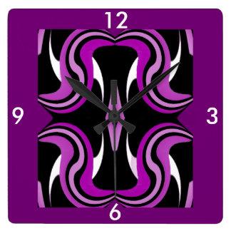 Wall Clock-Home-Black/White/Purple/Pink/Fuchsia Square Wall Clock