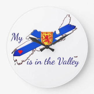 Wall clock My Heart is in the valley Nova Scotia