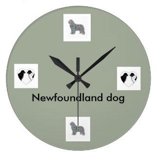 wall clock newfoundland dog