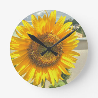 wall clock sunflower
