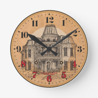Wall Clock: Victorian Mansion Wall Clock