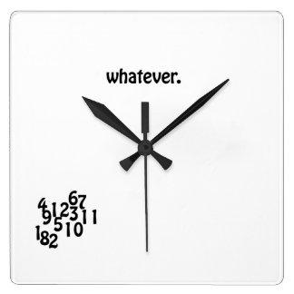 Wall Clock whatever.