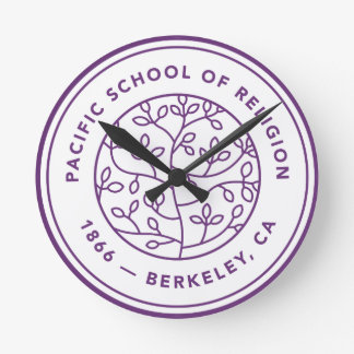 Wall clock with Crest