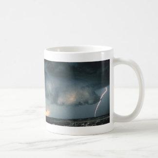 Wall cloud with lightning coffee mug