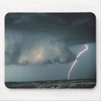 Wall cloud with lightning mouse pad