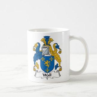 Wall Family Crest Basic White Mug