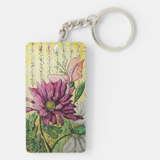 Wall Flowers IX Double Sided Keychain