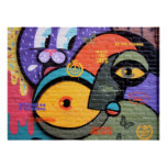 wall graffiti eyes Peace and Love message poster