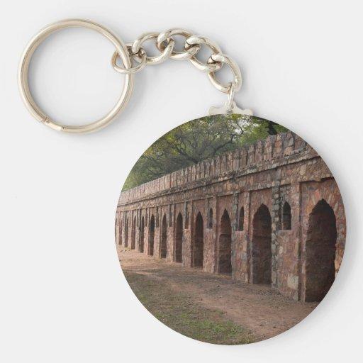 Wall inside historic Humayun's tomb Key Chains