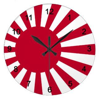 Wall-mounted clock of Asahi day flag, No.02